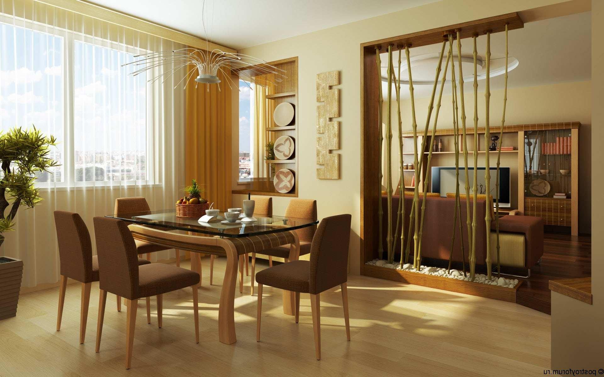 Интерьер гостиной с перегородкой фото
