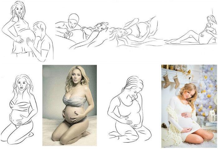Позы для беременных женщинах