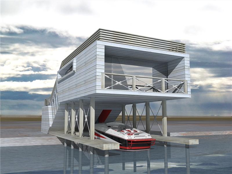 лодочный гараж строительство