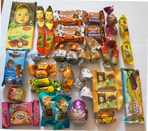 Состав детских Новогодних подарков СладКо конфеты 96